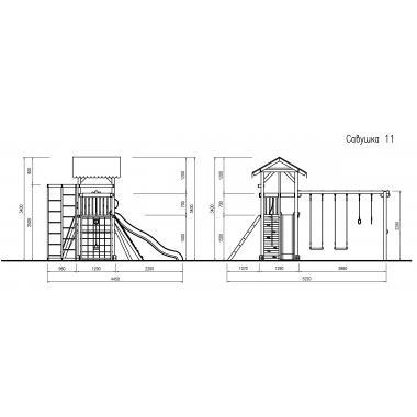 Деревянная детская игровая площадка Савушка - 11